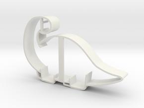 Brontosaurus Cookie Cutter in White Natural Versatile Plastic