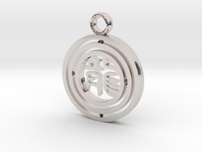 CheekyChi - Gimbal Charm (龙) in Platinum