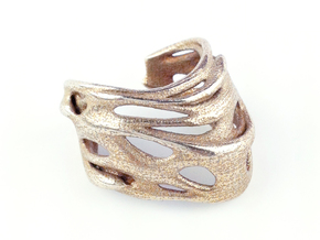 Tafone 111 Ring - Stainless Steel in Polished Bronzed Silver Steel