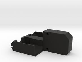 Bruder Delta Loader: Motor mounts in Black Natural Versatile Plastic