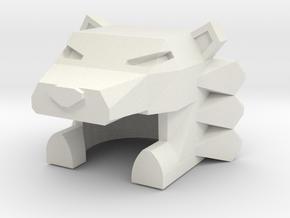 Robohelmet: Nemean Robo-lion Cowl in White Natural Versatile Plastic