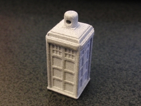 TARDIS Ornament / Charm in Blue Processed Versatile Plastic