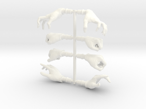 HandsFemaleBundle in White Processed Versatile Plastic