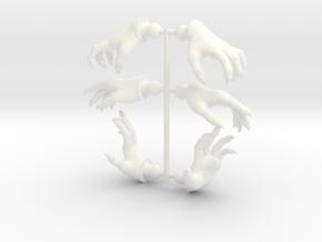 Wizard Hands 3-Pak 2 in White Processed Versatile Plastic