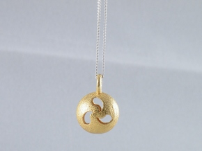 Tri Drop Pendant in Polished Gold Steel