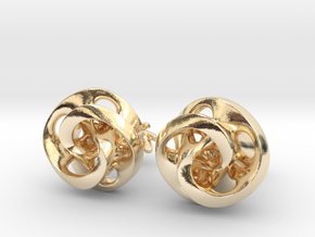 Mobius Cufflinks in 14K Yellow Gold
