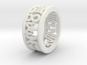 Constellation symbol ring 5 in White Natural Versatile Plastic