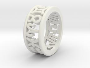 Constellation symbol ring 6 in White Natural Versatile Plastic
