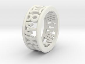 Constellation symbol ring 6.5-7 in White Natural Versatile Plastic