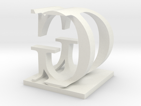 Two way letter / initial D&G in White Strong & Flexible