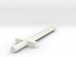 5mm Sword in White Natural Versatile Plastic