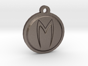 Mach 5 keychain in Polished Bronzed Silver Steel
