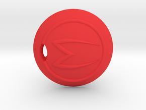 Mach 5 keychain in Red Processed Versatile Plastic