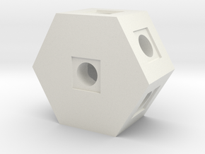 Hex Block in White Natural Versatile Plastic