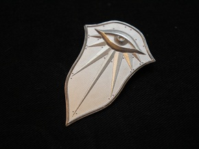 Pendant of the Seeker in Raw Silver