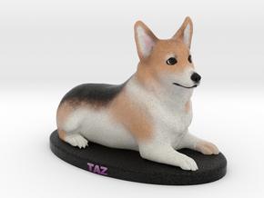Custom Dog Figurine - Taz in Full Color Sandstone