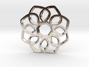 Small Flower Pendant in Platinum