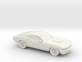 1/87 1969 Ford Mustang in White Natural Versatile Plastic