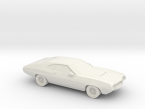 1/87 1972 Ford Gran Torino  in White Natural Versatile Plastic