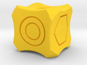 Dice127 in Yellow Processed Versatile Plastic