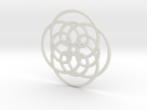 Spirograph04 in White Strong & Flexible