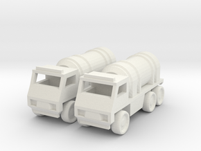 Tanker Truck [2 Pack] in White Natural Versatile Plastic