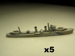 HMS Electra (E/F class) 1/1800 x5 in White Natural Versatile Plastic
