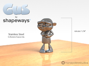 Gus Figurine - Small - Metal in Polished Bronzed Silver Steel