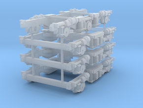 1:64 Silver Fern Bogie Side Frames in Frosted Ultra Detail