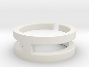 (USA) 10 Void Cross - Multiple Sizes in White Natural Versatile Plastic