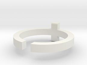 (USA) 10-1/4 Cross - Multiple Sizes in White Natural Versatile Plastic