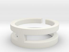 (USA) 11 Void Cross - Multiple Sizes in White Natural Versatile Plastic