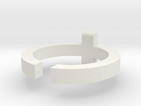 (USA) 6-1/2 Cross  - Multiple Sizes in White Natural Versatile Plastic