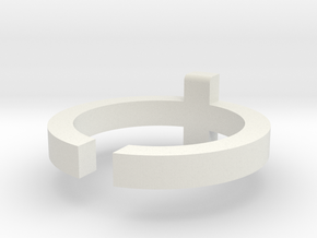 (USA) 6-3/4 Cross  - Multiple Sizes in White Natural Versatile Plastic