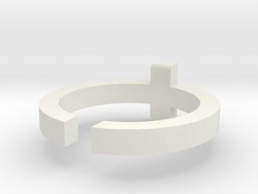 (USA) 8 Cross  - Multiple Sizes in White Natural Versatile Plastic