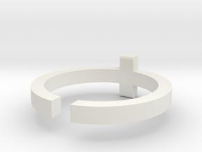 (USA) 12 Cross - Multiple Sizes in White Natural Versatile Plastic