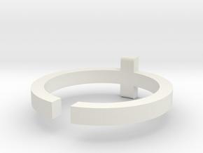 (USA) 12-3/4 Cross - Multiple Sizes in White Natural Versatile Plastic