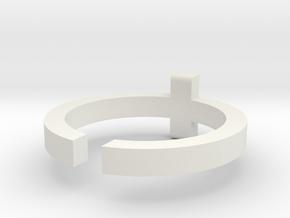 (USA) 9-3/4 Cross  - Multiple Sizes in White Natural Versatile Plastic
