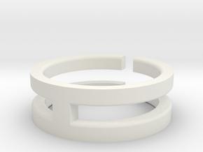 (USA) 13 Void Cross - Multiple Sizes in White Natural Versatile Plastic