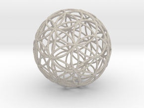 3D 100mm Orb of Life (3D Flower of Life)  in Natural Sandstone