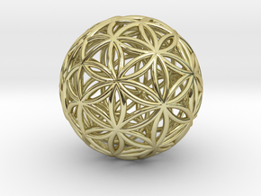 3D 25mm Orb Of Life (3D Flower of Life) in 18k Gold