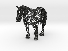 Wireframe Horse in Black Strong & Flexible