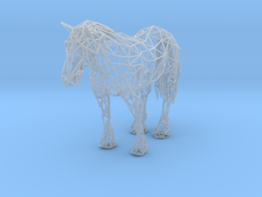 Wireframe Horse in Smooth Fine Detail Plastic