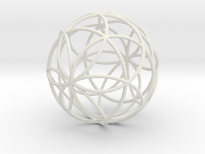 3D 300mm Orb of Life (3D Seed of Life)  in White Strong & Flexible