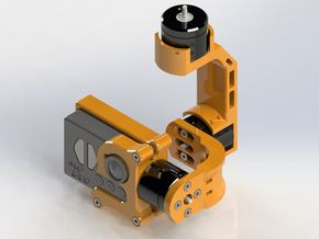 MoPro (Mobius to Gopro Conversion) & Gopro3 3 Axis in Orange Processed Versatile Plastic