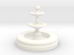 Miniature 1:48 Fountain in White Processed Versatile Plastic