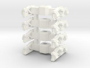 Trucks for Small 8 wheel Tender for HOn30 F&C loco in White Processed Versatile Plastic