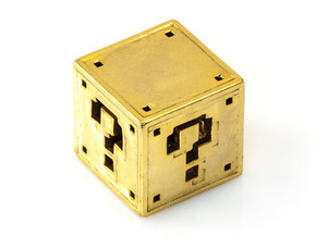 8 bit Mario Block in 18K Gold Plated