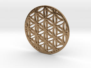 Flower of Life in Natural Brass