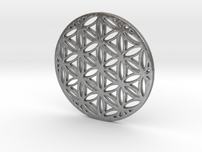 Flower of Life in Natural Silver
